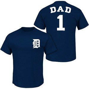 Detroit Tigers Number One Dad Shirt