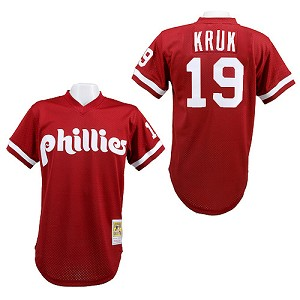 Phillies John Kruk Authentic 1991 Batting Practice Jersey By Mitchell And Ness