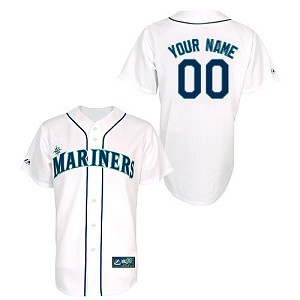 Seattle Mariners Youth Personalized Official Majestic Jersey