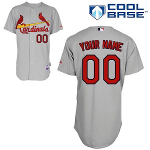 St Louis Cardinals Personalized Road Grey  Jersey