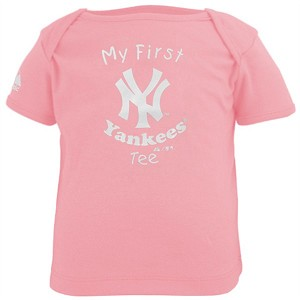 My First Pink Yankees T-Shirt  ( Can Be Personalized)