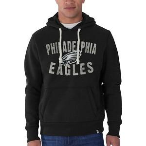 b70cfb24acb Philadelphia Eagles Black Hooded Sweatshirt By 47 Brand