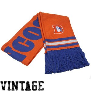 Denver Broncos Vintage Scarf By Mitchell and Ness