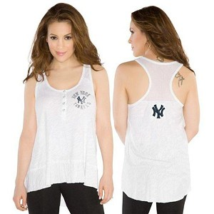 Yankees Cascade Tank Top By Allysa Milano