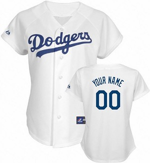 LA Dodgers Official Womens Home Jersey By Majestic