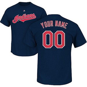 Cleveland Indians Toddler & Child Personalized Official T-Shirt
