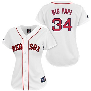 Big Papi Official Womens Red Sox home jersey