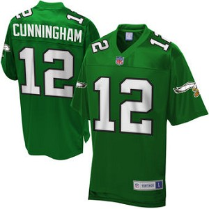 cheap for discount b57be 7f73a Randall Cunningham Official Green Eagles Jersey By Mitchell and Ness